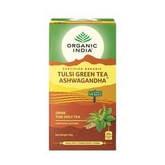 Organic India Tulsi green ashwagandha bio thee (25 zakjes)
