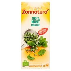 Zonnatura Munt thee 100% bio (20 zakjes)