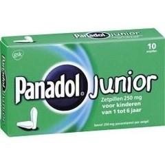 Panadol Panadol junior 250 mg (10 zetpillen)