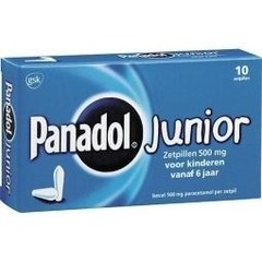 Panadol Panadol junior 500 mg (10 zetpillen)