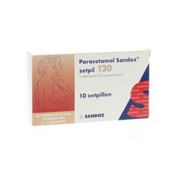 Sandoz Paracetamol 120 mg (10 zetpillen)