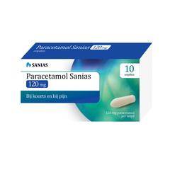 Sanias Paracetamol 120 mg (10 zetpillen)