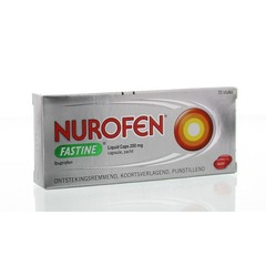 Nurofen Fastine liquid caps 200 mg (10 stuks)