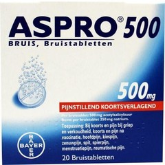 Aspro Aspro bruis 500 mg UAD (20 tabletten)