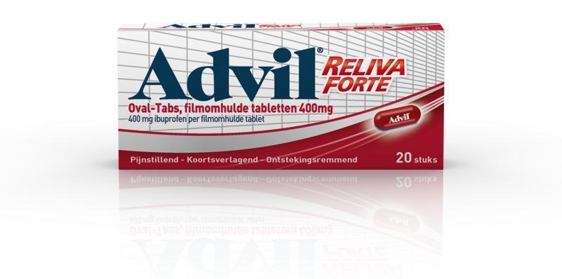 Advil Advil Advil reliva 400 mg ovaal blister UAD (20 dragees)