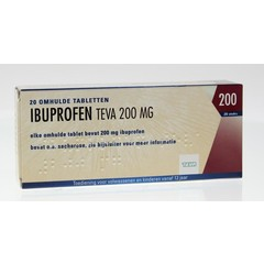 Teva Ibuprofen 200 mg (20 tabletten)