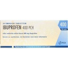 Teva Ibuprofen 400 mg (20 tabletten)