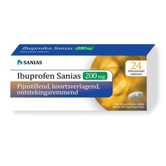 Sanias Ibuprofen 200 mg (24 tabletten)