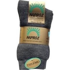 Naproz Thermo sokken 35-38 grijs (3 paar)