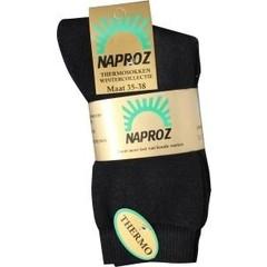 Naproz Thermo sokken 35-38 zwart (3 paar)