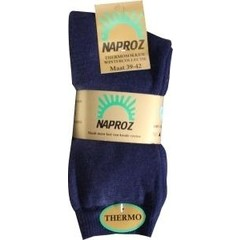 Naproz Thermo sokken 39-42 blauw (3 paar)