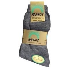 Naproz Thermo sokken 39-42 grijs (3 paar)