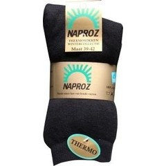 Naproz Thermo sokken 39-42 zwart (3 paar)