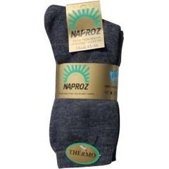 Naproz Thermo sokken 43-46 grijs (3 paar)