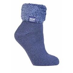 Heat Holders Ladies lounge socks 4-8 37-42 dark lavender (1 paar)