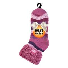 Heat Holders Ladies lounge socks 4-8 37-42 muted pink stripe (1 paar)