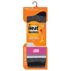 Heat Holders Ladies socks lite stripe 4-8 remington black/raspb (1 paar)