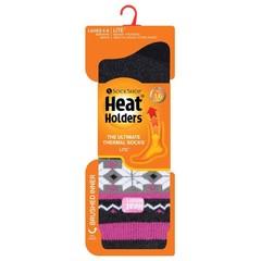Heat Holders Ladies socks lite fairisle 4-8 rivington black/cha (1 paar)