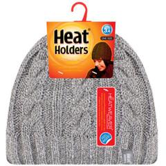 Heat Holders Ladies cable hat one size light grey (1 stuks)