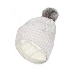 Heat Holders Ladies turnover cable hat with pom pom cream (1 stuks)