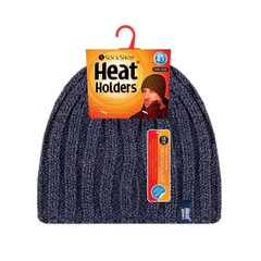 Heat Holders Mens cable hat navy one size (1 stuks)