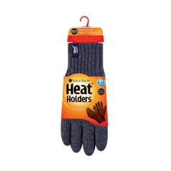 Heat Holders Mens cable gloves navy S/M (1 paar)