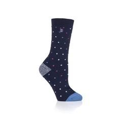 Heat Holders Ladies ultra lite socks berry navy 4-8 (1 paar)