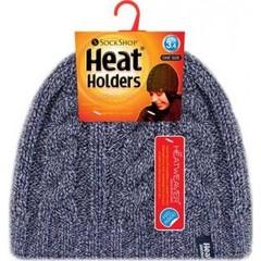 Heat Holders Ladies cable hat navy one zize (1 stuks)