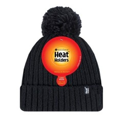 Heat Holders Ladies pom pom hat arden black one size (1 stuks)