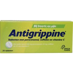 Antigrippine Antigrippine 250 mg paracetamol (20 tabletten)