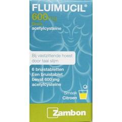 Fluimucil Fluimucil 600 mg (6 bruistabletten)
