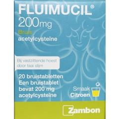 Fluimucil Fluimucil 200 mg suikervrij (20 bruistabletten)