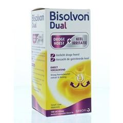 Bisolvon Dual droge hoest/keelirritatie siroop (100 ml)
