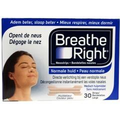 Breathe Right Neusstrips tanned large (30 stuks)