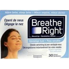 Breathe Right Neusstrips clear (30 stuks)