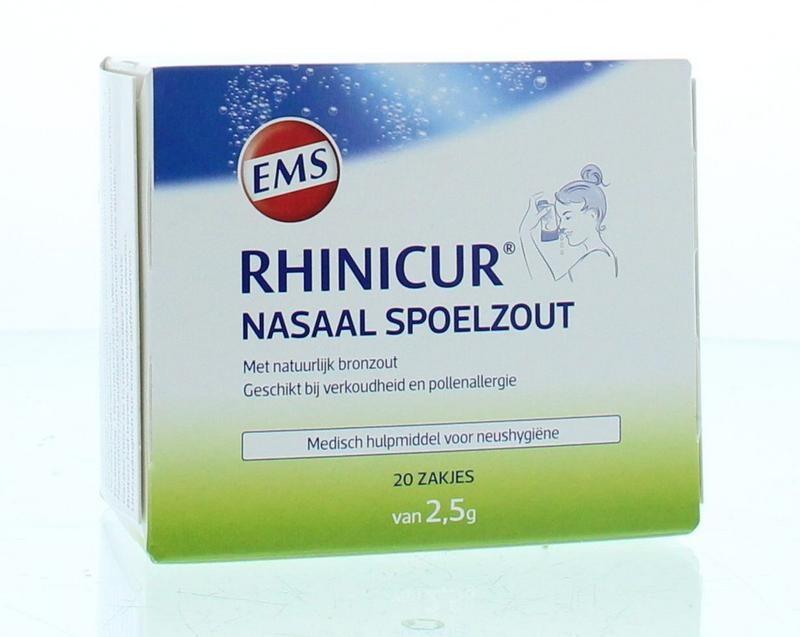 Rhinicur Rhinicur Neus spoelzout 2.5 gram (20 stuks)