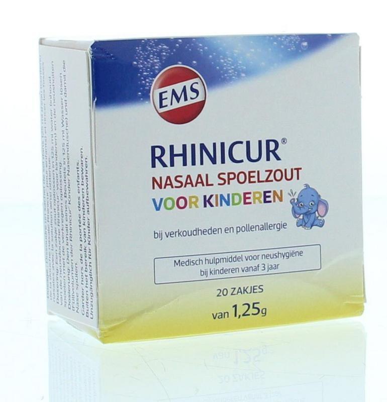 Rhinicur Rhinicur Neus spoelzout kind zakje (20 stuks)
