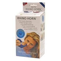 Rhino Horn Neusspoeler blauw (1 stuks)