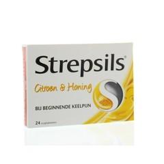 Strepsils Citroen & honing (24 zuigtabletten)