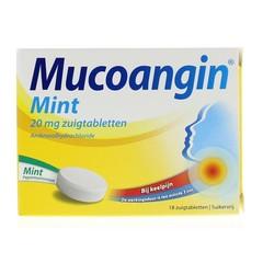 Mucoangin Mint suikervrij 20 mg (18 zuigtabletten)