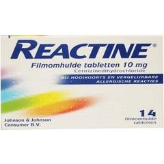 Reactine Anti histaminicum 10 mg (14 tabletten)