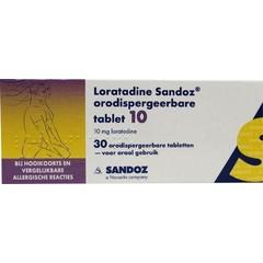 Sandoz Loratadine 10 mg orotaat (30 tabletten)