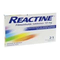 Reactine Anti histamine 10 mg UAD (21 tabletten)