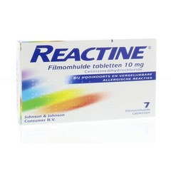 Reactine Anti histaminicum 10 mg (7 tabletten)