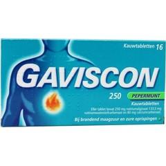 Gaviscon Pepermunt 250 (16 tabletten)