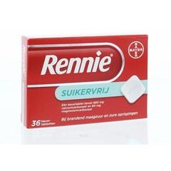 Rennie Rennie suikervrij (36 tabletten)