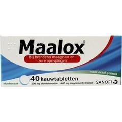 Maalox Maalox (40 kauwtabletten)