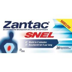 Zantac Zantac snel (20 kauwtabletten)