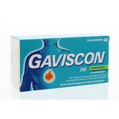 Gaviscon Pepermunt 250 (48 kauwtabletten)