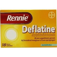 Rennie Rennie deflatine (18 tabletten)